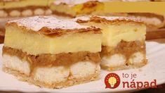Úžasný jablkovo-pudingový koláč z obyčajného lístkového cesta: Tento koláč tromfne aj zložité zákusky!