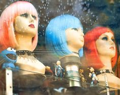 Colorful mannequins Toronto shop window boho urban by gbrosseau