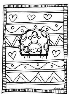 Ladybug coloring pages medium Bug Coloring Pages, Ladybug Coloring Page, Valentine Coloring Pages, Free Coloring Sheets, Halloween Coloring Pages, Doodle Coloring, Mandala Coloring Pages, Printable Coloring Pages, Coloring Books