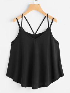 5b23d528cf5f6 ROMWE - ROMWE Strappy Cami Top - AdoreWe.com Fashion Clothes