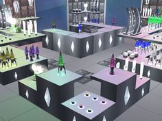 Parsimonious The Sims Furniture & Objects Sims 2 Games, Robot Factory, Sims 4 Build, Space Travel, Sims Cc, Objects, Floor Plans, Shops, Alien Planet