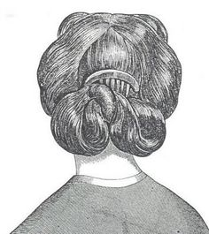 1860's hairstyle...if we only had a good source for period hair combs!