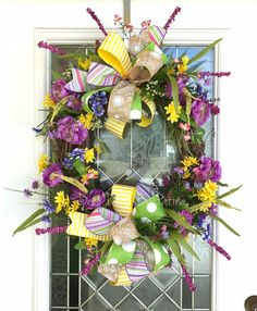 Spring Wreath  Spring Decoration  Floral by DecoDecorByPatina