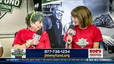 Judy Wilkins and her oncologist, Caron Jacobson, MD, shared an emotional moment while recounting her treatment on live TV during the WEEI/NESN Jimmy Fund Radio-Telethon in August 2017.