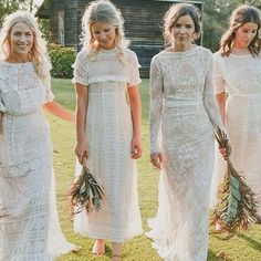 Vintage, Handmade or American made bridesmaid's dresses