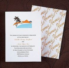 Cityscape - Hawaii Wedding Invitation