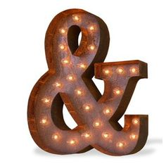 Iconics Ampersand Steel Marquee Sign Wall Décor