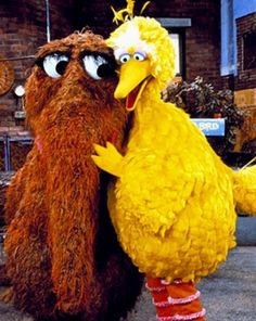 Mr. Snuffleupagus & Big Bird are best friends and favorites from my childhood. Snuffy, I'll always believe. ♥dc
