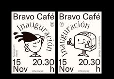 Bravo Café on Behance Packaging Design, Branding Design, Identity, Poster Design Inspiration, Poster Layout, Art Graphique, Graphic Design Posters, Portfolio, Behance