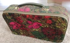 ReDuCeD 1970s 1960s SAVOY Floral Suitcase Overnight by QuinlanQ