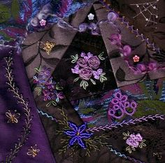 I ❤ crazy quilting & beadwork & ribbon embroidery . . . Crazies Round Robbin ~By Nanna_J