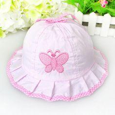 2a41f5159d2 Baby Girls Toddlers Polka Butterflies Dot Cotton Summer Sun Hats Caps  Sweets  Unbranded Summer Sun