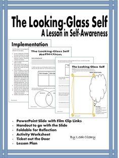 Looking Glass Self Lesson and Activities Looking Glass Self, Sociological Concepts, My Future Job, Social Studies Classroom, Secondary Teacher, Teacher Resources, Teaching Ideas, Self Awareness, New Teachers