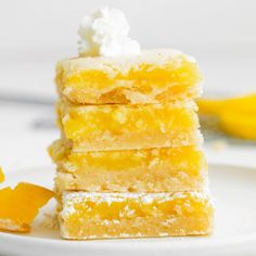 The best lemon bars recipe — a perfectly sweet and tart lemon filling on top of a rich and buttery shortbread crust. These tangy lemon bars are a popular choice for holidays, brunches, bridal showers, baby showers, and bakes sales. I especially love serving chilled lemon bars right from the fridge during the Spring and Summer months. They are light, fresh, and just the perfect dessert for warm days. As you will see, these homemade lemon bars are not only the perfect combination of tart and…