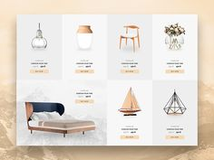 List products furniture for website