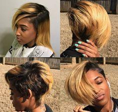 New Haircut Styles – Hair Cut Models And Styles Short Sassy Hair, Short Hair Cuts, Short Hair Styles, New Hair Cut Style, Black Haircut Styles, Meagan Good, Brown Blonde Hair, Bob Hairstyles, Haircuts
