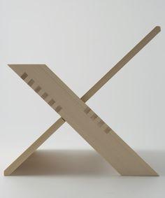 "Hinoki Wood Magazine Rack ""90 degree"", designed by Keisuke Funahashi"