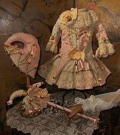 Stunning French Silk Bebe Party Costume - WhenDreamsComeTrue #dollshopsunited