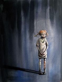 Om ulykkelige barn i DBMagasinet Lisa, Angst, Children's Book Illustration, Drawing S, Art Sketches, Science Fiction, Art For Kids, Fantasy Art, Brave