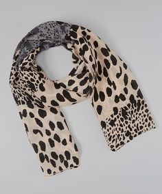 Take a look at this Gray & Tan Leopard Scarf on zulily today!