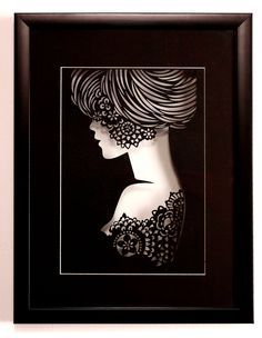 Paper art silhouette -Princess-see it in white on my Tunnel Books... Board