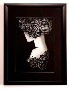 Paper art silhouette -Princess