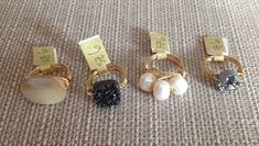 Bourbon and Boweties rings $22