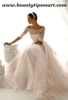 Boat Neck Wedding Dresses With Long Sleeves 2014