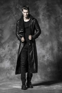 New-PUNK-RAVE-Gothic-Heavy-Metal-Mens-Leather-Fur-Jacket-Coat-Y-485-AU-STOCK