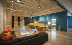 Open office environment at Athens Church - Athens, GA (designed by a partner at Equip Studio while at a previous firm).