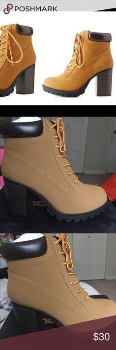 "Charlotte Russe Combat boots size 8 Shaft: 7.75""  Heel: 3""  Platform: 0.75"" Charlotte Russe Shoes Combat & Moto Boots"