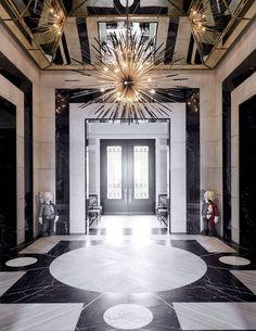 Entry Foyer designed by Ferris Rafauli at Drake& Toronto, Canada Home Architectural Digest, Malibu Homes, Modern Entryway, Entryway Decor, Rapper, Entry Foyer, Celebrity Houses, Luxury Interior Design, Mansions