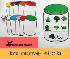 10 kolorowych słoików oraz 80 obrazków #colours #learning #kids #preschoollearning