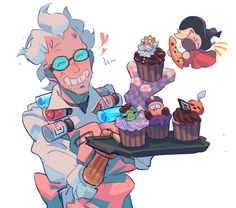 Aww this is adorable-indigo . Credit to the artist . Overwatch Comic, Overwatch Fan Art, Overwatch Drawings, Junkrat Fanart, Junkrat And Roadhog, Only Play, Goth Art, Funny Comics, Art Reference