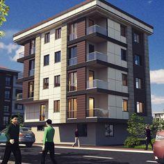 Town House Floor Plan, House Plans, Building Facade, Building A House, Residential Building Design, Modern House Facades, Khalid, Facade House, Townhouse