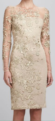Mother of the bride - Ivory Lace | Embroidered Dress.