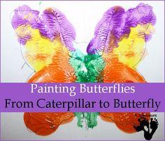 From Caterpillar to Butterfly – Painting Butterflies - 3Dinosaurs.com