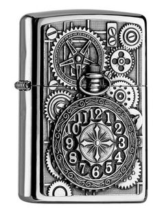 Zippo Pocket Watch-Chrome High Polished Encendedor, Cromado, Plata, x x cm Zippo Usa, Gravure Metal, Cool Lighters, Custom Lighters, Cigar Lighters, Zippo Collection, Vintage Ashtray, Pipes And Cigars, Light My Fire
