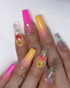 60 Prettiest And Stylish Summer Nail Designs – nail art designs, colorful nail a… – Beauty ideas Summer Acrylic Nails, Best Acrylic Nails, Cute Acrylic Nails, Acrylic Nail Designs, Summer Nails, Nail Art Designs, Nails Design, Spring Nails, Gorgeous Nails