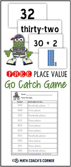 Grab this free place value game for multiple representations of 3-digit numbers!