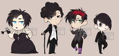 Goth Kids Charm Set 4 by Sinpie-nii on DeviantArt Cartoon As Anime, Anime Art, South Park Goth Kids, 2017 Images, Cute Anime Boy, I Movie, Old Things, Fan Art, Deviantart