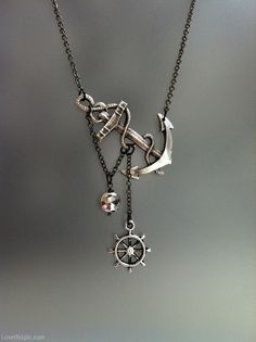 Anchor necklace jewelry necklace silver anchor nautical