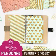 Gold planner accessories: MINT & GOLD  Glitter by StrawberryScraps