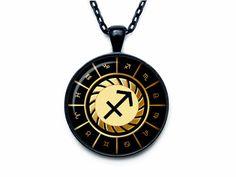 Sagittarius Necklace, Sagittarius Pendant Sagittarius jewelry Zodiac Sign Pendant, Constellation Jewelry Art gift for men for women. $13.75, via Etsy.