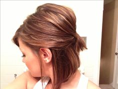 1000 ideas about Bob Updo Hairstyles 1000 ideas about Bob U Bob Updo Hairstyles, Pretty Hairstyles, Wedding Hairstyles, Hairstyle Ideas, Short Hair Updo, Short Hair Styles, Corte Y Color, Great Hair, Hair Today
