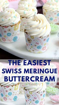 This is the Easiest Swiss Meringue Buttercream recipe you'll ever make! Once you try it, you'll want to use it to cover all of your cakes and cupcakes. frosting The EASIEST Swiss Meringue Buttercream Video Best Cake Recipes, Cupcake Recipes, Cupcake Cakes, Dessert Recipes, Cupcake Videos, Homemade Frosting Recipes, Recipes For Cakes, Marshmallow Frosting Recipes, Homemade Marshmallow Fluff