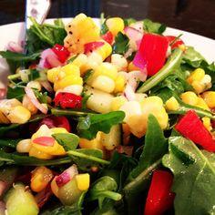 Fresh Corn and Arugula Cobb Salad