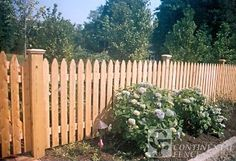Traditional Picket with Cedar Caps | Fence Long Island: Continental Fence Corp.