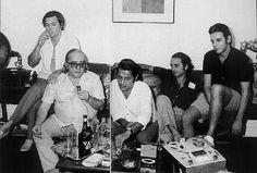 A turma da Bossa. Tom Jobim,Vinicius de Moraes, Ronaldo Boscoli, Roberto Menescal Carlos- Lyra.