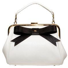 Gunas Just Bow Cause Handbag: White